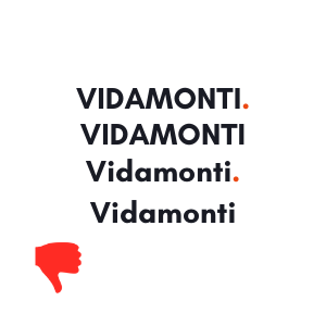 Showing the incorrect writing of the VidaMonti brand name.